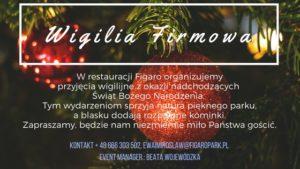 Organizacja imprezy świątecznych- FigaroPark Warszawa